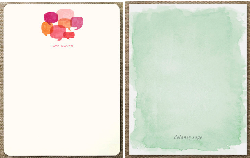 giveaway minted stationery