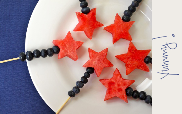 Fruit Wands, Fourth Of July, Parties, Food, Fruit Kabobs, 4Th Of July ...