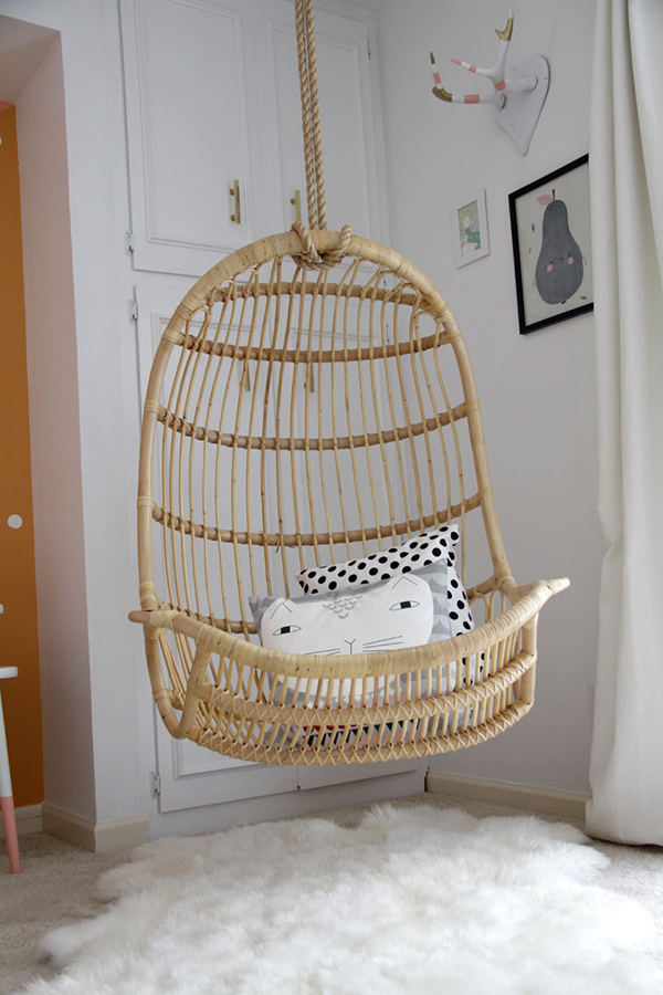 La la 39 s room reveal for White hanging chair for bedroom