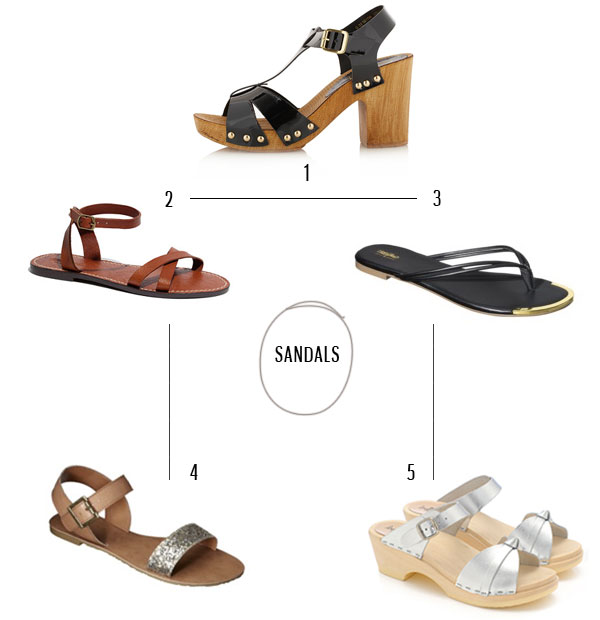 summer sandals via La La Lovely