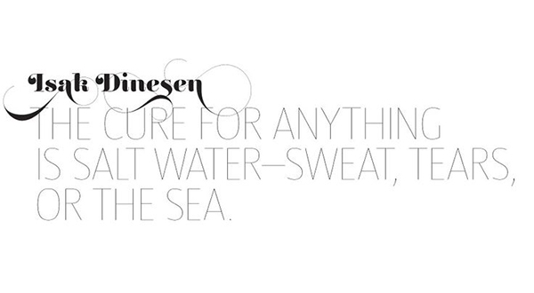 salt water quote via la la lovely