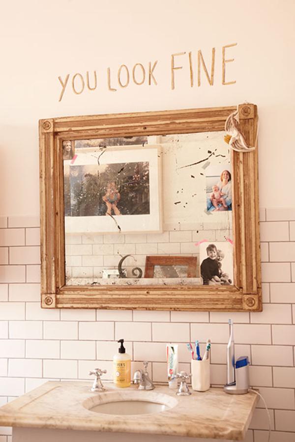 Bathroom Mirror You Look Fine la la loving - la la lovely