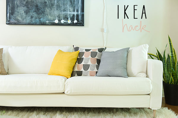 karlstad ikea hack by la la lovely