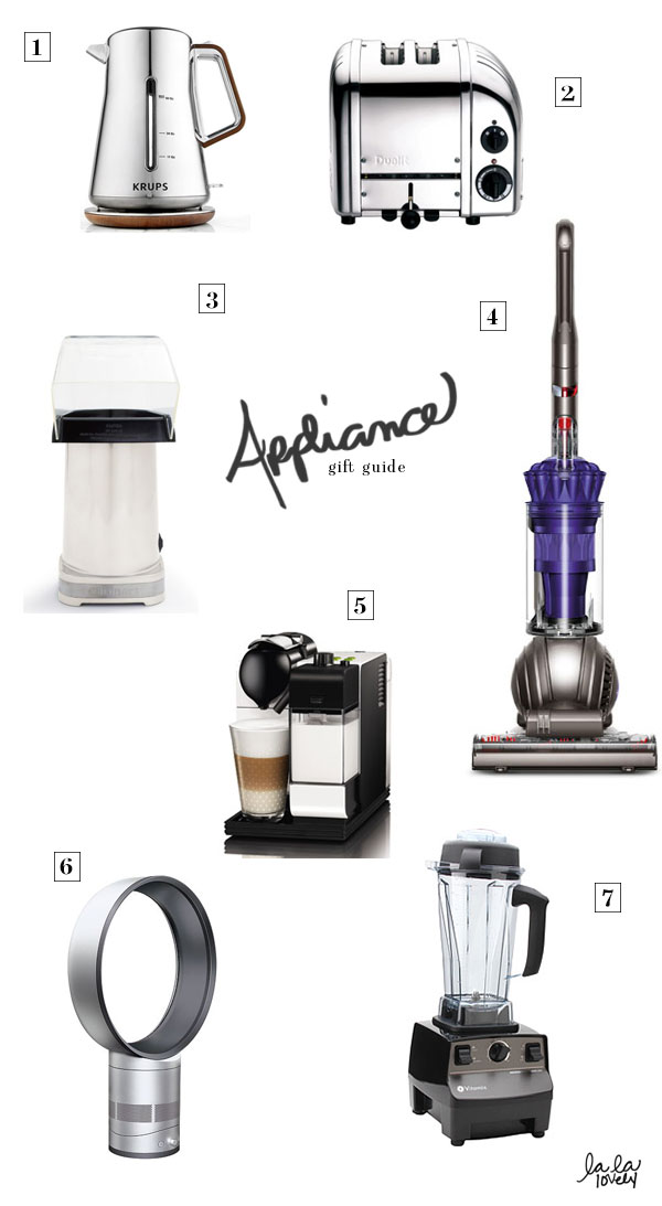 appliance gift guide via la la lovely