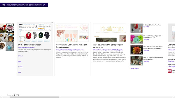 bing smart search via la la lovely