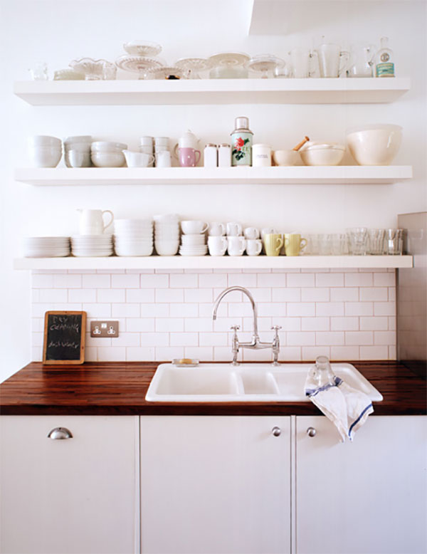 Charming Kitchen Floating Shelf Ideas