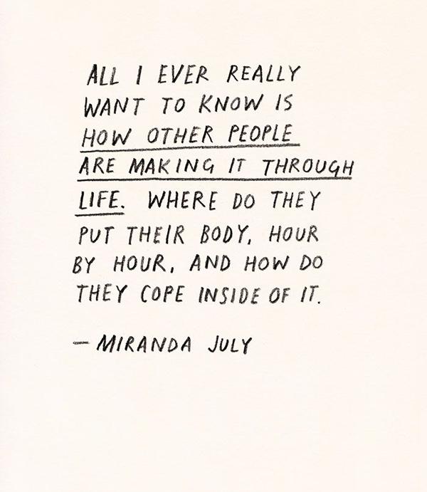 la la loving miranda july quote