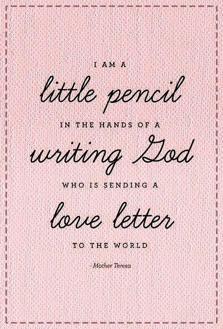 la la loving mother theresa quote