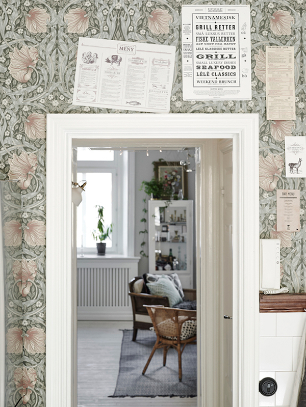 la la loving wallpapered doorways