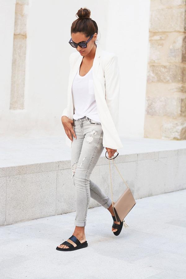 la la loving white blazers
