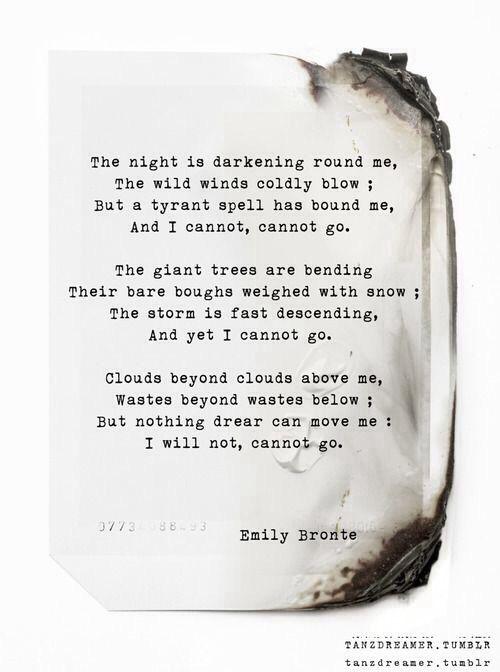 la la loving Emily Bronte #poem #lalalovelyblog