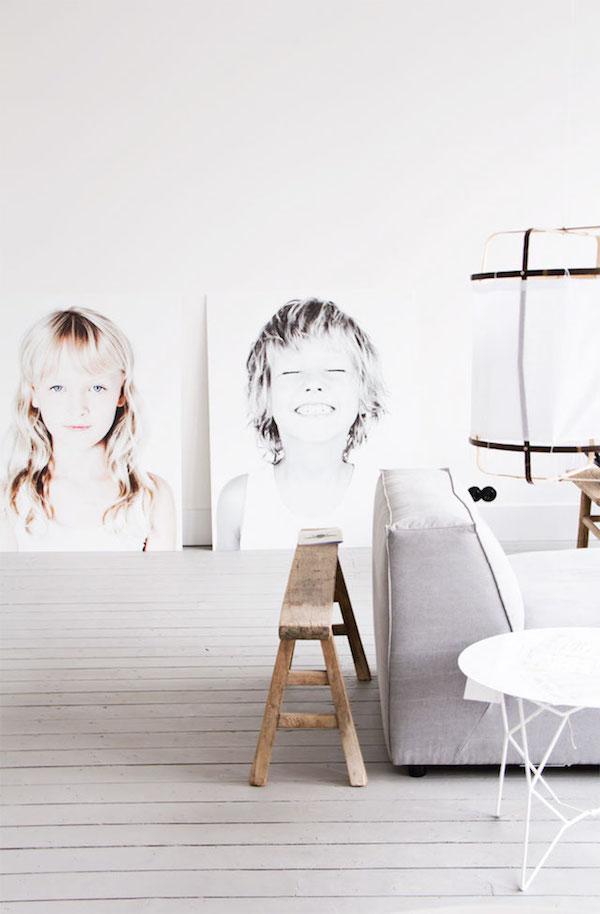 giant portraits via la la lovely blog