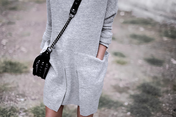 Cozy #dress with oversized pockets