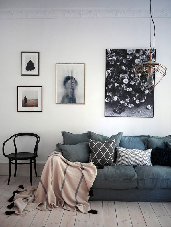 Perfect Squidgy Sofa via La La Lovely