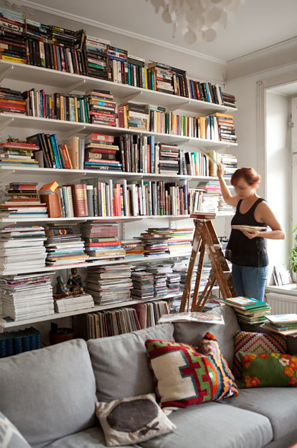 Living Room With Books: Bookshelves Done A Little Different