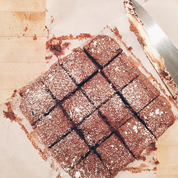 Nutella Brownie Recipe via La La Lovely