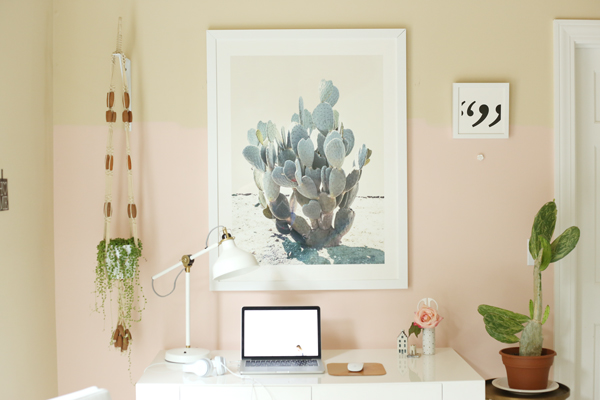 Mini Office Makeover | La La Lovely