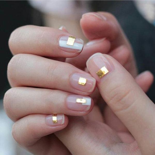 Gold foil nails
